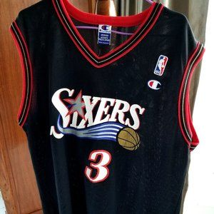 Champion Vintage Sixers 76ers Iverson NBA Jersey